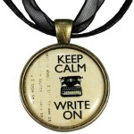 Handmade Pendant Necklace Gift for Writers