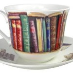 Book-Themed Bone China Teacup & Saucer for Writers & Book Lovers