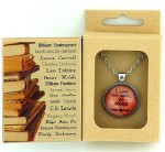 Pendant Necklace for People Who Love Books